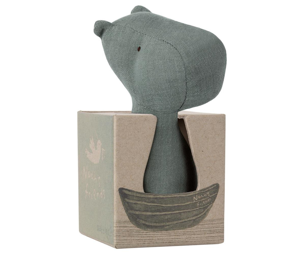 Maileg Noah's Friends Hippo Rattle