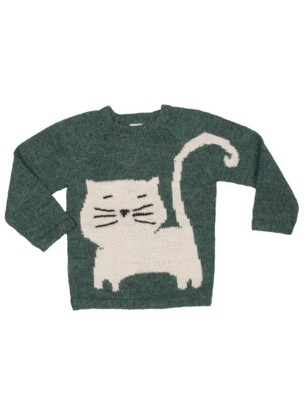 Nanay Alpaca White Cat Sweater- multiple colors