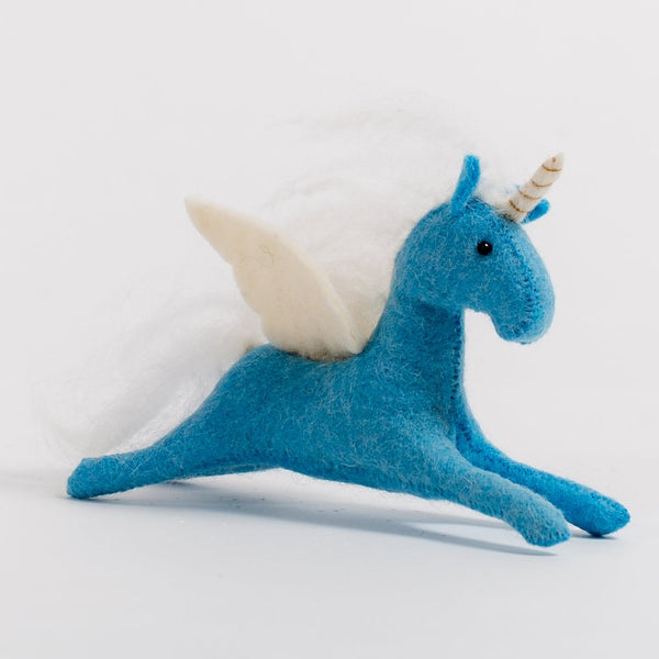 Craftspring Blue Enchanted Days Unicorn Ornament