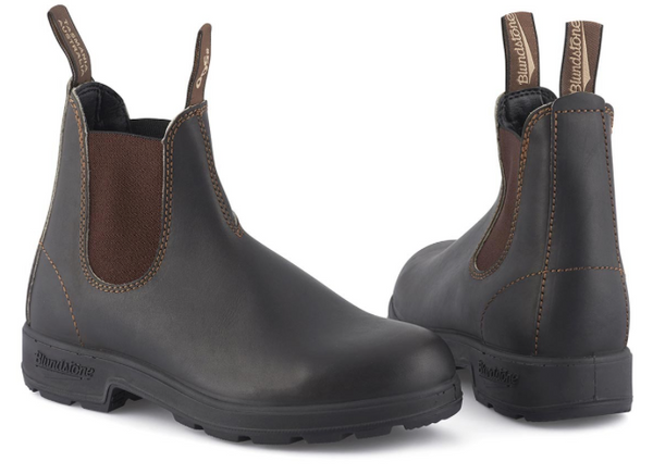 Blundstone 500 stout brown elastic sided boots