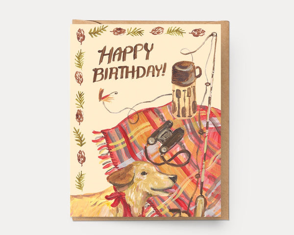 Ingrid Press Camp Birthday Greeting Card