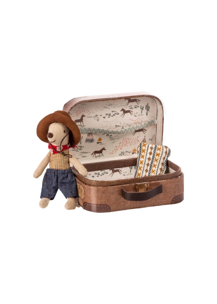 Maileg Cowboy in Suitcase Mouse