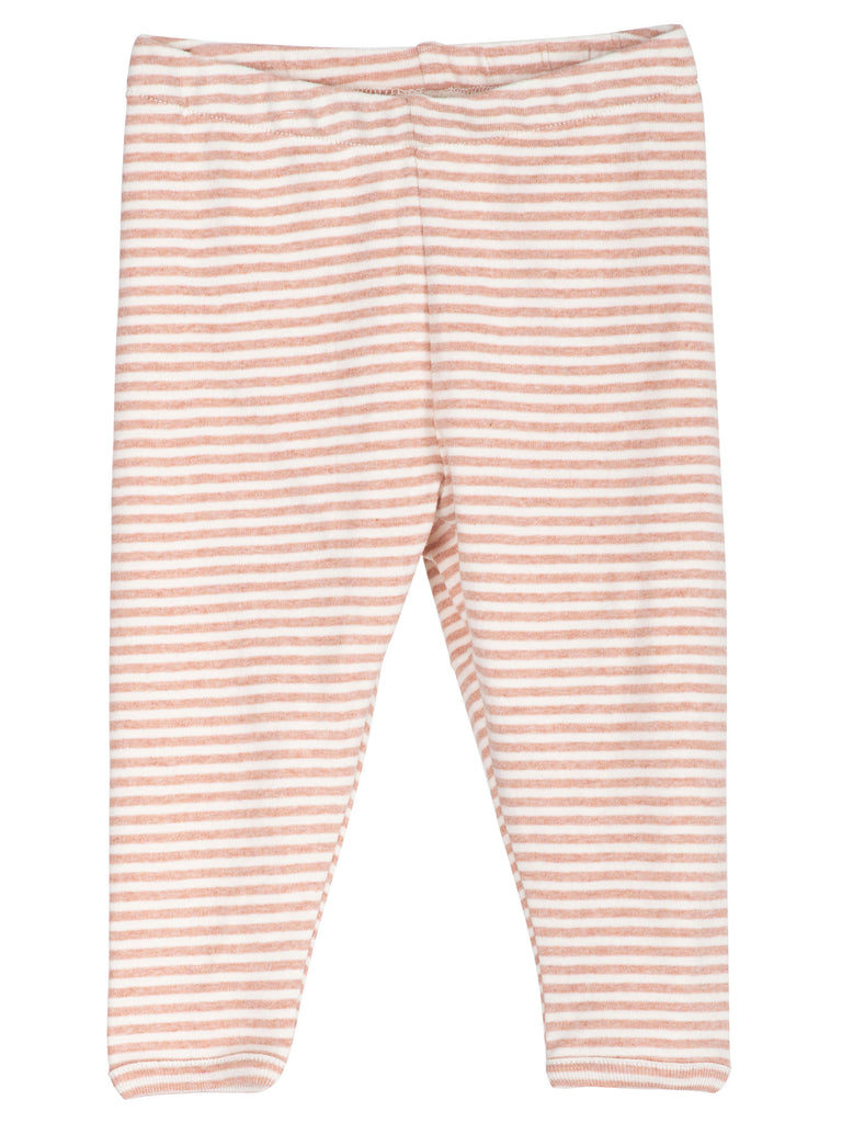Baby Leggings Striped - Clay