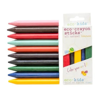 Eco-kids eco-crayon sticks 10-pack