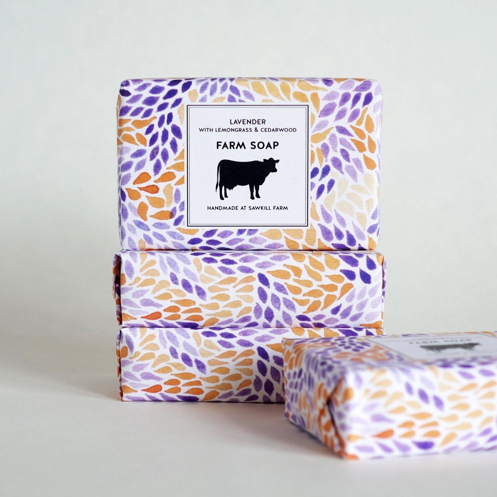 Sawkill Farm Lavender with Lemongrass and Cedarwood Soap