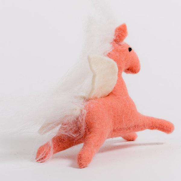 Craftspring Pink Enchanted Days Unicorn Ornament