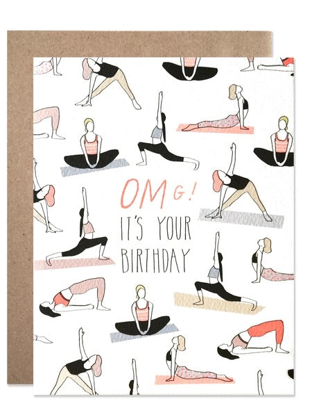 Hartland Brooklyn Birthday Omg Yoga Card