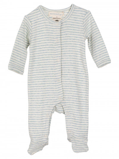 Serendipity Newborn Stripe Suit Cloud Blue/Off-white Stripe