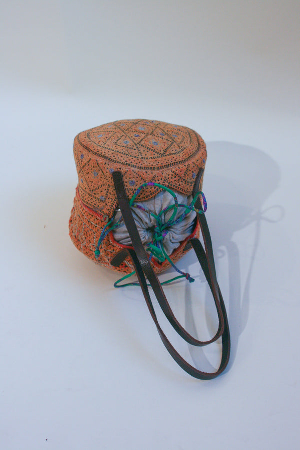 Embroidered Topi Mirror Bag
