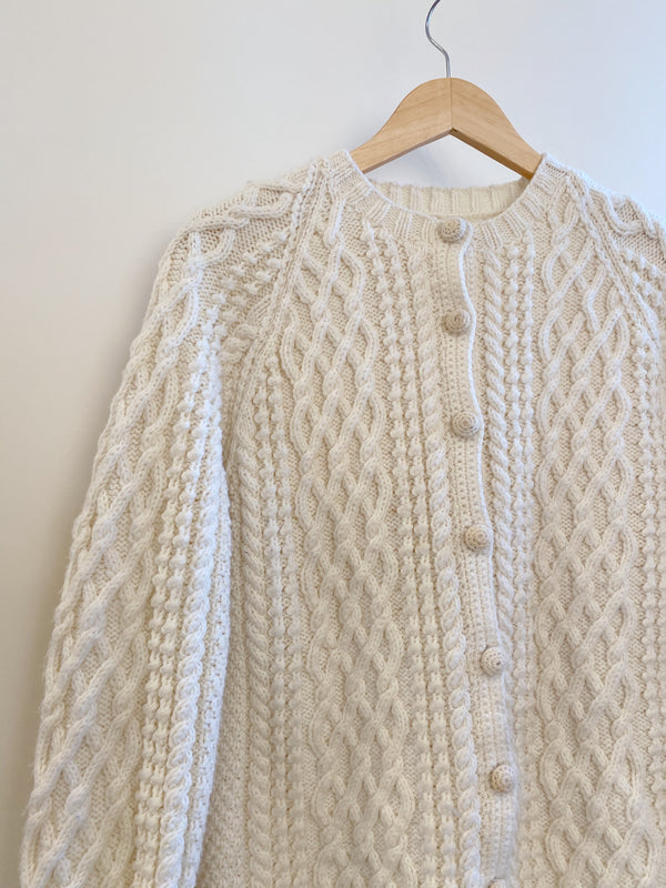 Vintage Irish Fisherman Cardigan