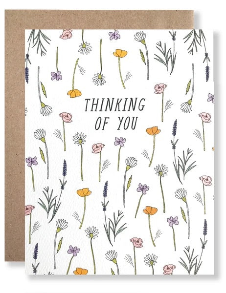 Thinking of You Wildflowers Card