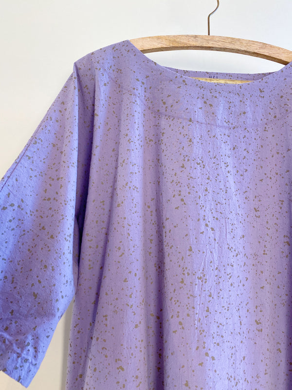UZI NYC Now Dress Lavender Speckle