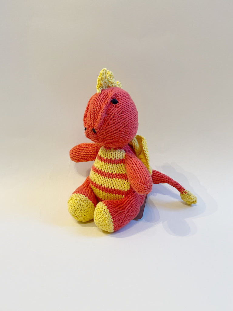 Hand knit dragon