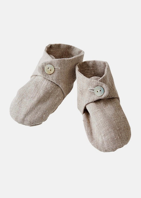 Fog Linen Work Linen Baby Shoes