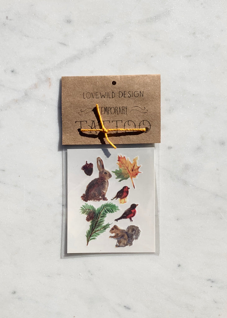 Lovewild Design Temporary Woodland Tattoo