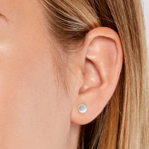 Kathleen Whitaker 3mm Sequin Stud- Sterling