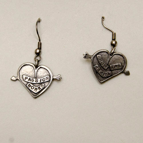 Earrings, Pewter