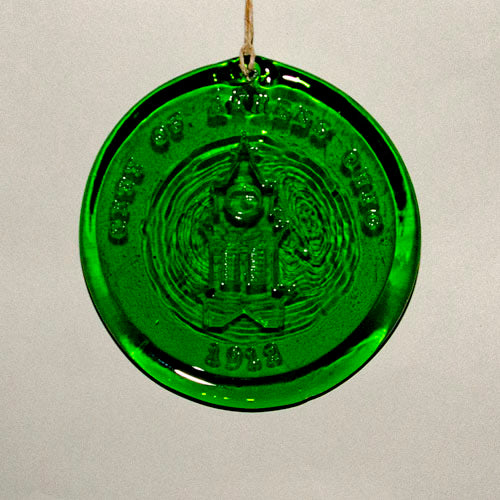 Sun Catcher / Holiday ornament, Recycled glass