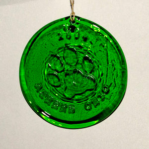 Sun Catcher, Holiday ornament, Recycled glass