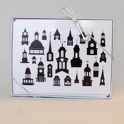 Boxed cards, Steeples, Towers, Cupolas of Athens, OH