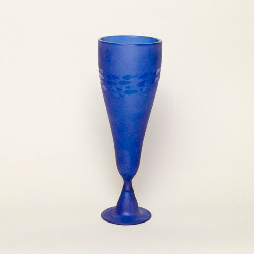 Goblet, recycled glass