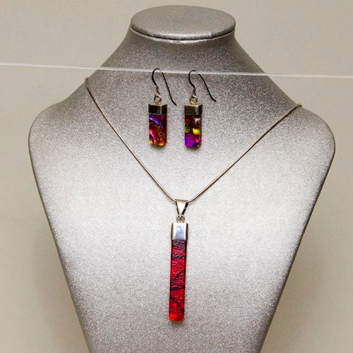 Pendent  & Earrings, Glass