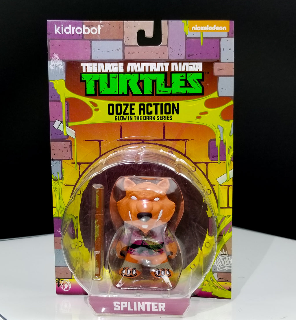 """Ooze Action Splinter"" 3"" GID Mini Figure by TMNT x Kidrobot"
