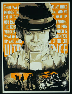 """A Clockwork Orange - The Old Ultra Violence"" Artist Proof by Matthew Johnson"