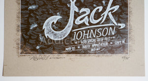 """Jack Johnson: Cary, NC"" (Yellow Variant) by Dig My Chili"