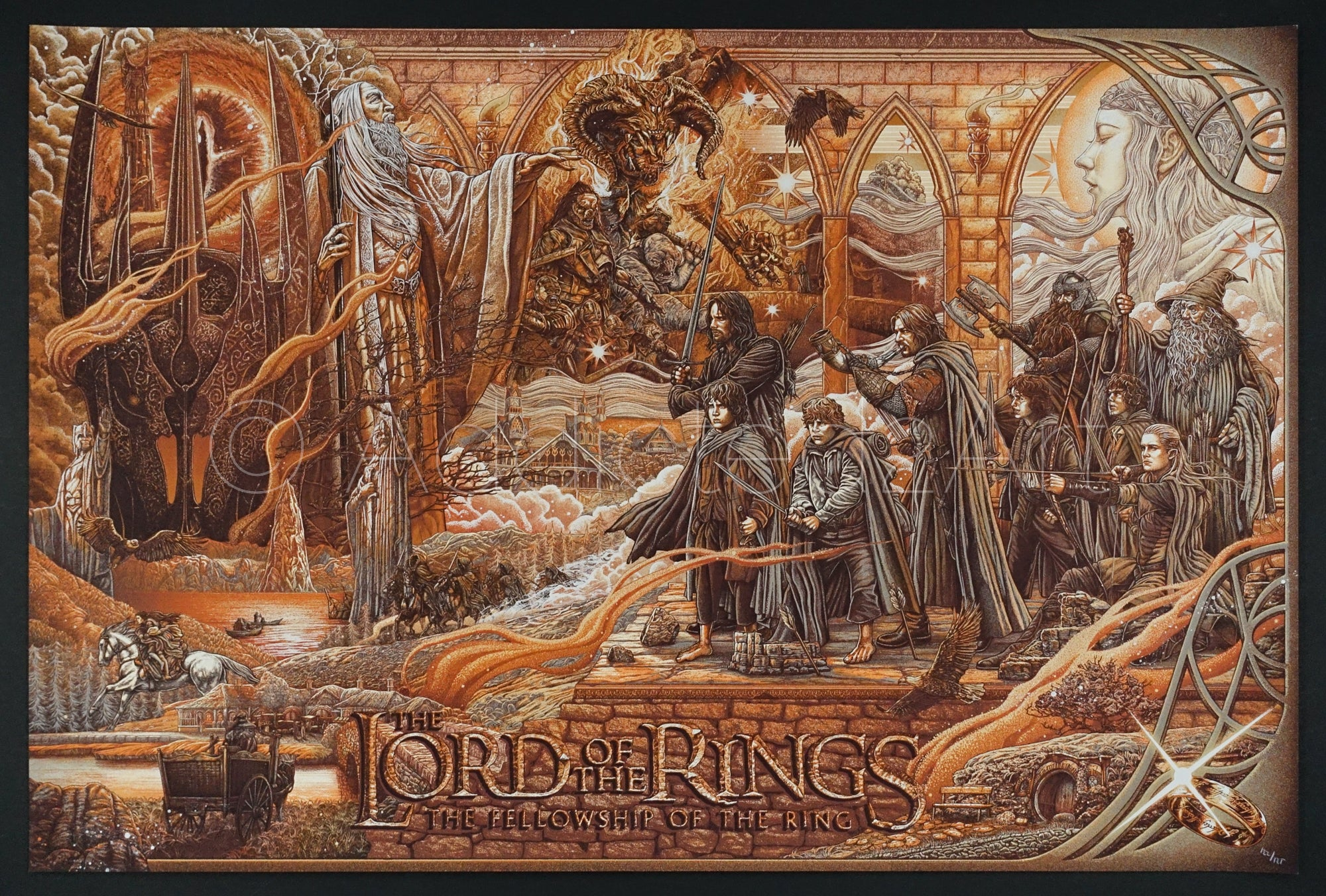 """The Lord of the Rings: The Fellowship of the Ring (Variant)"" by Ise Ananphada"