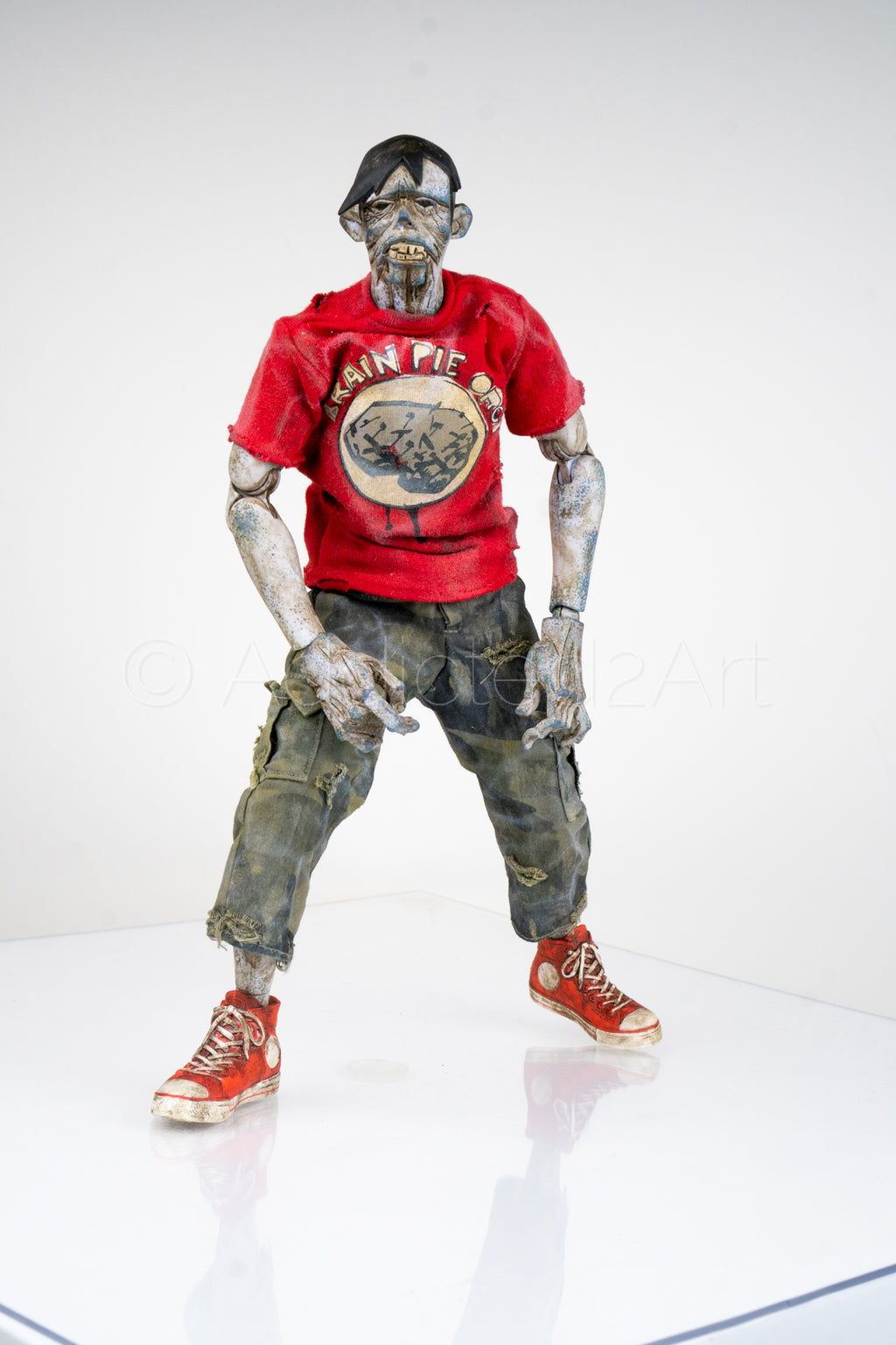 """ZvR (Zombies vs Robots) SDCC '12 Exclusive Zomb (Red Shirt - Brain Pie Orgy)"" by ThreeA (3A) x IDW"