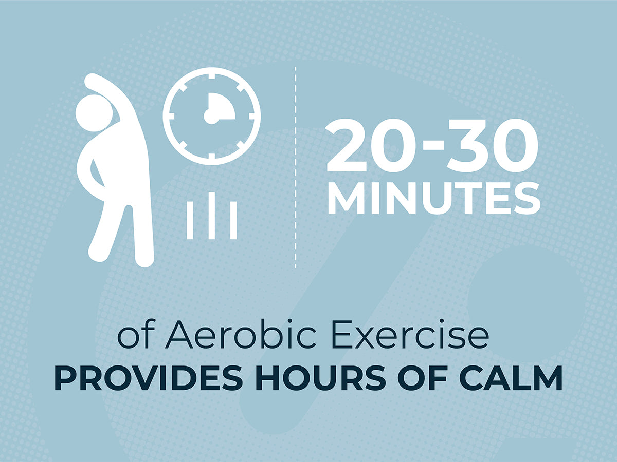 Echelon Infographic: 20-30 Minutes of Aerobic Exercise Provides Hours of Calm