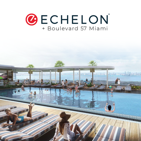 Echelon + Studio 57 poolside rendering