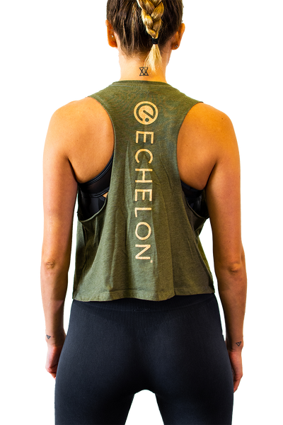 Echelon Green Racerback Tank Top