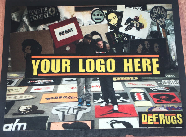 Have your logo or picture printed on a durable 2'x3' mat