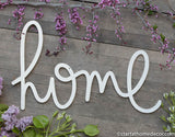 Handwritten Home Typography Word Cutout | MDF word sign | Typography | Start at Home Decor