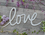 Love Typography Word Cutout | MDF word sign | Typography | Start at Home Decor