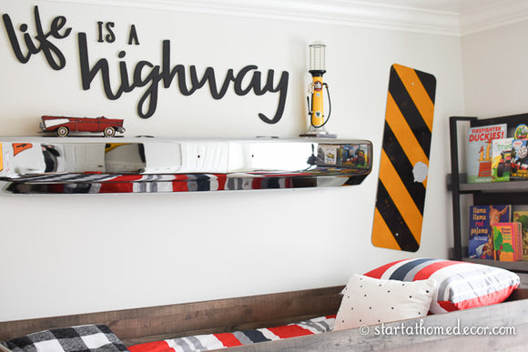 Life is a Highway Typography Word Cutout | MDF word sign | Typography | Start at Home Decor