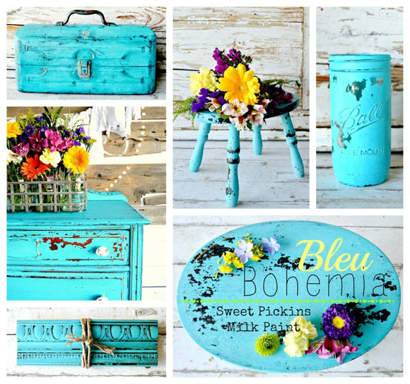 Bleu Bohemian Milk Paint