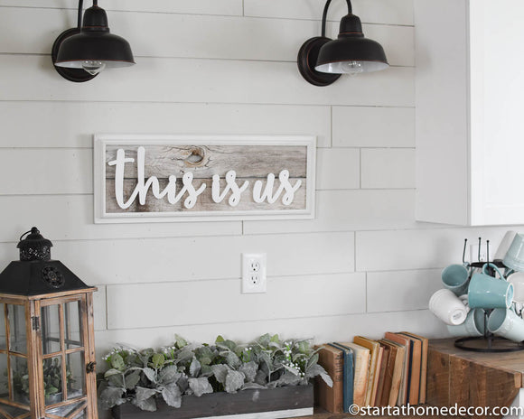 Reclaimed Wood This Is Us Sign