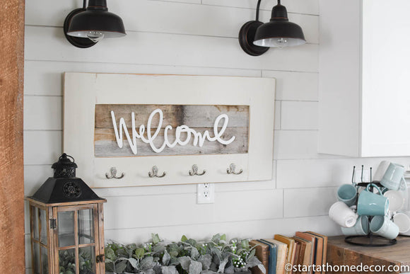 Reclaimed Wood Welcome Sign