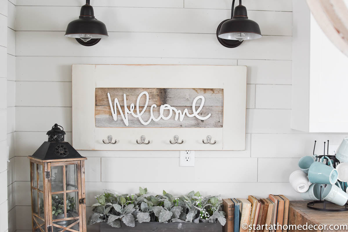 Reclaimed Wood Welcome Sign – Start at Home Decor