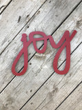 Joy Handwritten Word Cutout | MDF word sign | Typography | Start at Home Decor