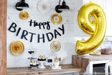 Happy Birthday Handwritten Banner Cutout