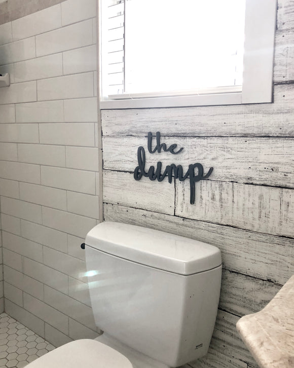 The Dump MDF word cutout