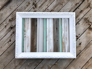 Pick Your Own Word Reclaimed Wood Turquoise Sign