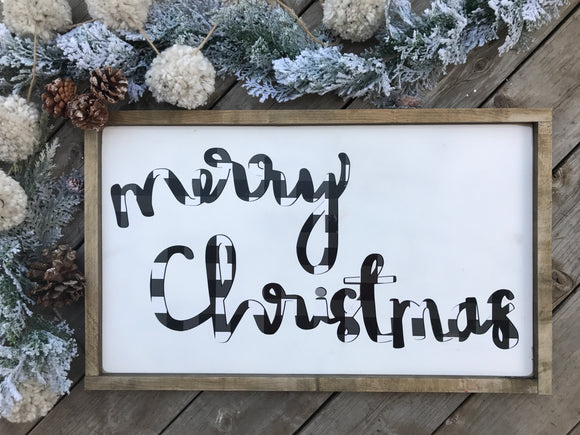 Handwritten Merry Christmas Vinyl Cutout