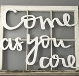 Come As You Are MDF Typography Word Saying Cutout | MDF word sign | Typography | Start at Home Decor