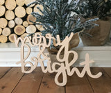Merry & Bright Connected Cutout