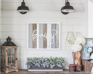 Reclaimed Wood Grey Family Sign -May Restock